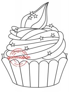 15030801  Stor Cupcake 45x58 mm