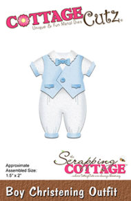 Cottage Cutz Dies - Boy Christening Outfit - Cottage Cutz Dies - Boy Christening Outfit