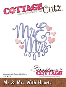 Cottage Cutz Dies - Mr & Mrs With Hearts - Cottage Cutz Dies - Mr & Mrs With Hearts