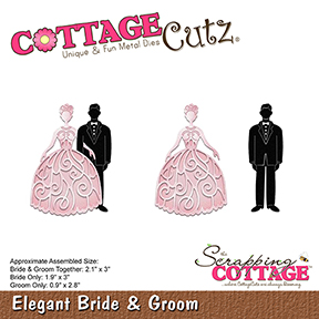 Cottage Cutz Dies - Elegant Bride & Groom - Cottage Cutz Dies - Elegant Bride & Groom