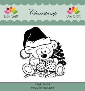 Dixi Craft - Clearstamp - Christmas Teddy Bear - Dixi Craft - Clearstamp - Christmas Teddy Bear