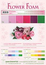 Flower foam 6 ark set 5 Red/Pink - Flower foam 6 ark set 5 Red/Pink