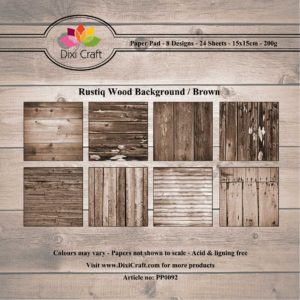 Dixi Craft Pappersblock - Rustiq Wood Background/Brown - Dixi Craft Pappersblock - Rustiq Wood Background/Brown