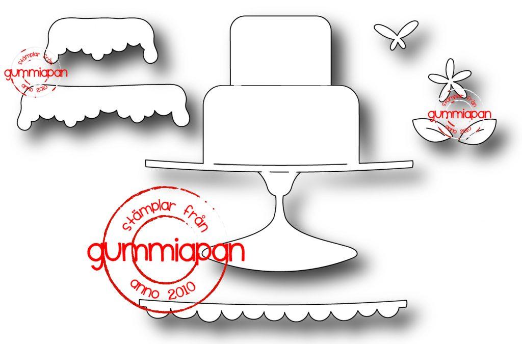 Gummiapan Dies - Tårta D171003