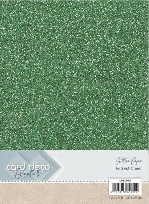 carddecoessentialsglitterpaperforrestgreen