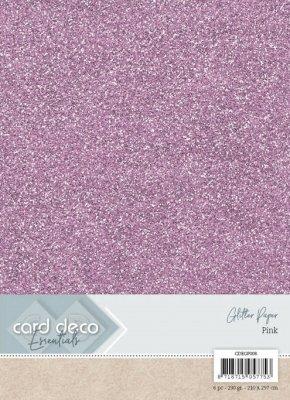 carddecoessentialsglitterpaperpink