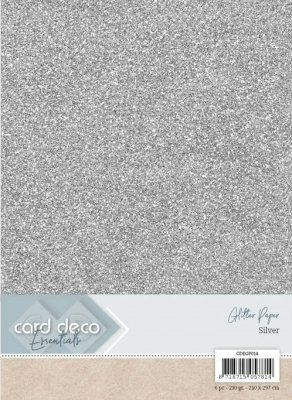 carddecoessentialsglitterpapersilver