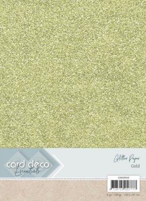 carddecoessentialsglitterpapergold