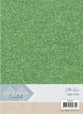 carddecoessentialsglitterpaperlightgreen