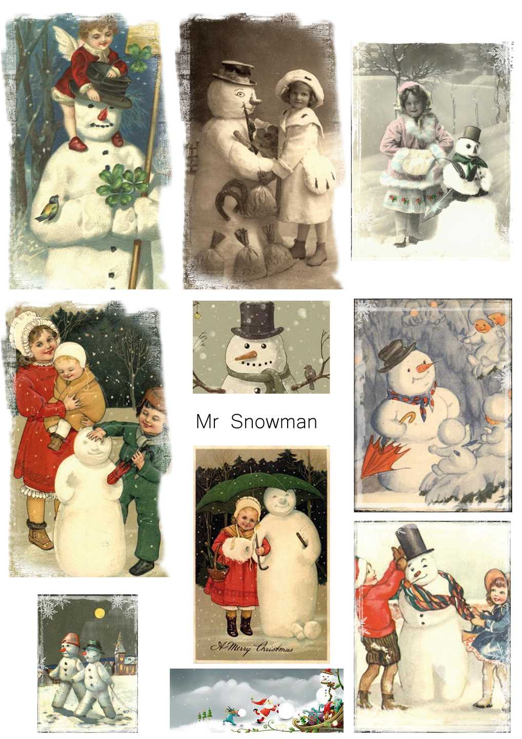 Reprint - Klippark - Mr Snowman KP0013