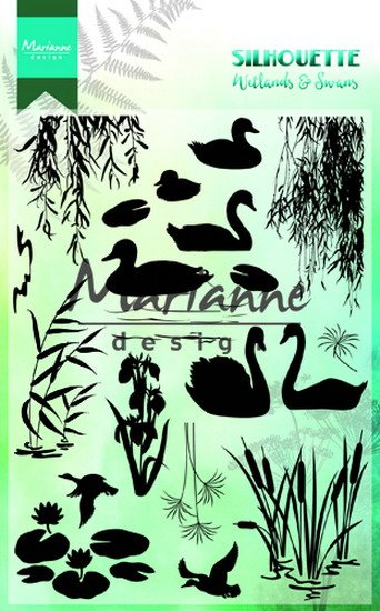 Marianne Design Clearstamps - Silhouette - Wetlands & Swans CS1017