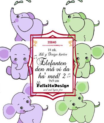 Felicita Design Toppers - Elefanten den må vi da ha med 2 35840
