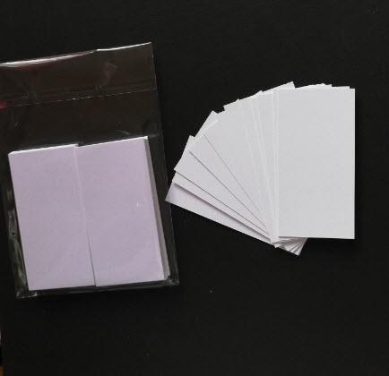 Kortstomme vit 50 pack