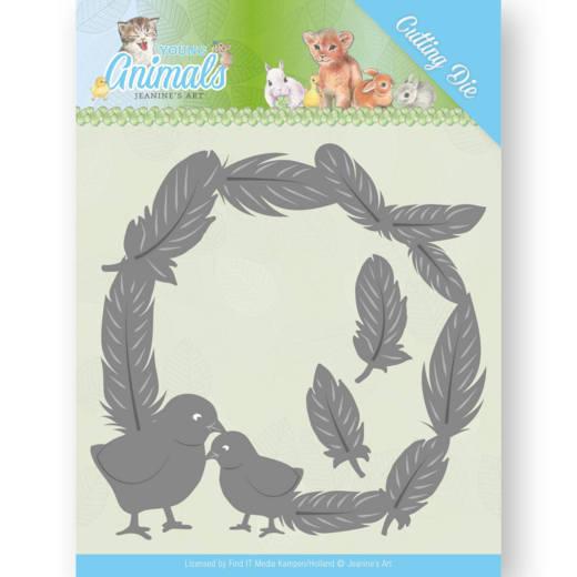 Jeanine´s Art - Dies - Young Animals - Feathers all Around JAD10067