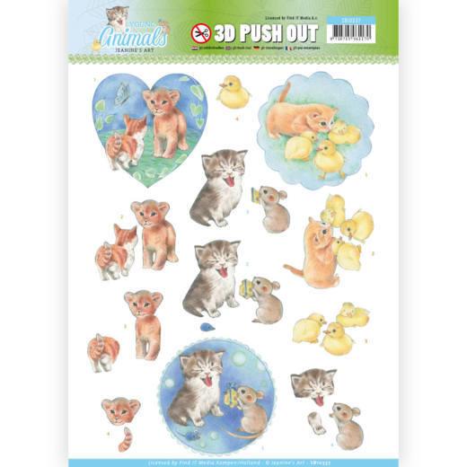Jeaninés Art 3D Utstansat - Young Animals - Kittens SB10337