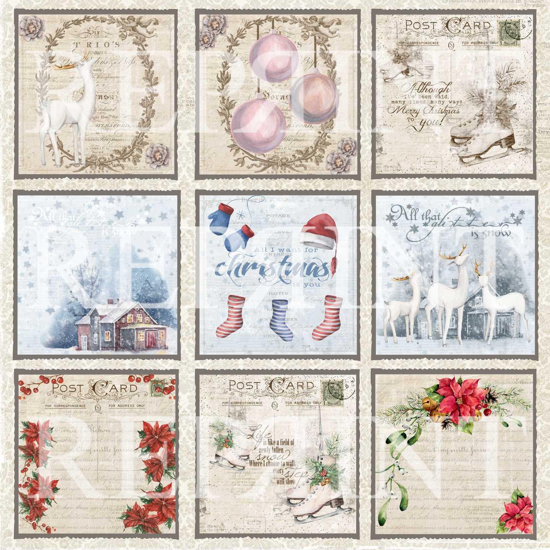 Reprint - Christmas Time Tags 1