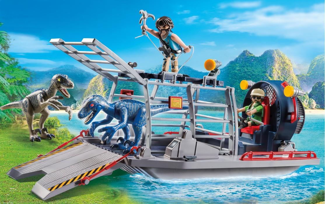 playmobil-dinos-propellerbåt-med-dinosauriebur-9433-2