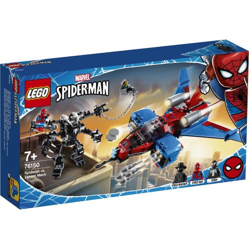 76150 LEGO Super Heroes Spiderjet mot Venoms robot
