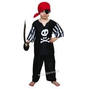 Svart piratdräkt, barn stl 110/116 - Svart piratdräkt, barn stl 110/116