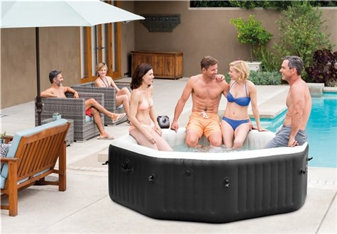 INTEX PureSpa Jet & Bubble Deluxe 6-pers. Octagon 218x71cm (1.098L)_Ronneby