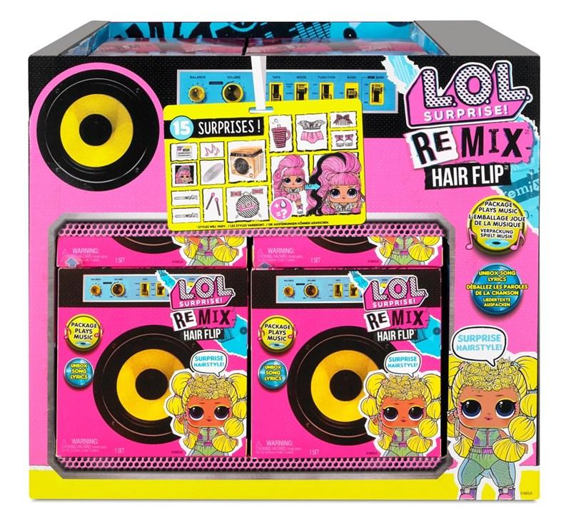 L.O.L.-Surprise-REMIX-Hairflip Tots-Lekextra-Ronneby-dinomin