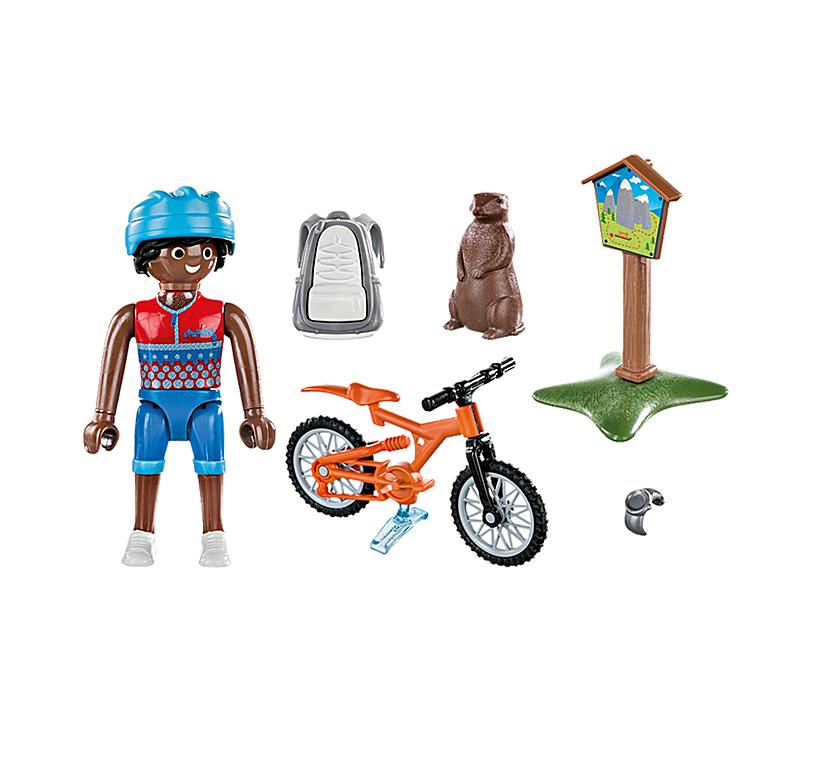 Mountainbike-cyklist-cyklar-i-bergen-