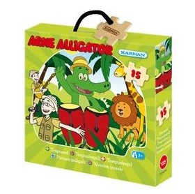 Träpussel Arne Alligator 15 bitar - Träpussel Arne Alligator 15 bitar