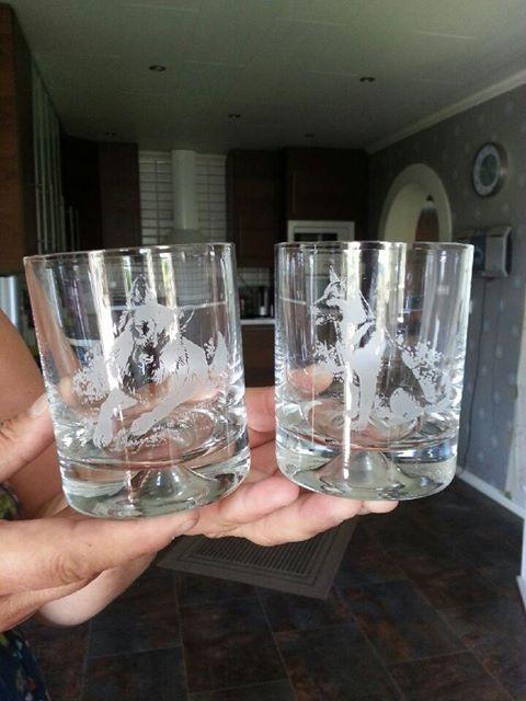Tack Lisa Pelle och Chac för dem fina whiskey glasen