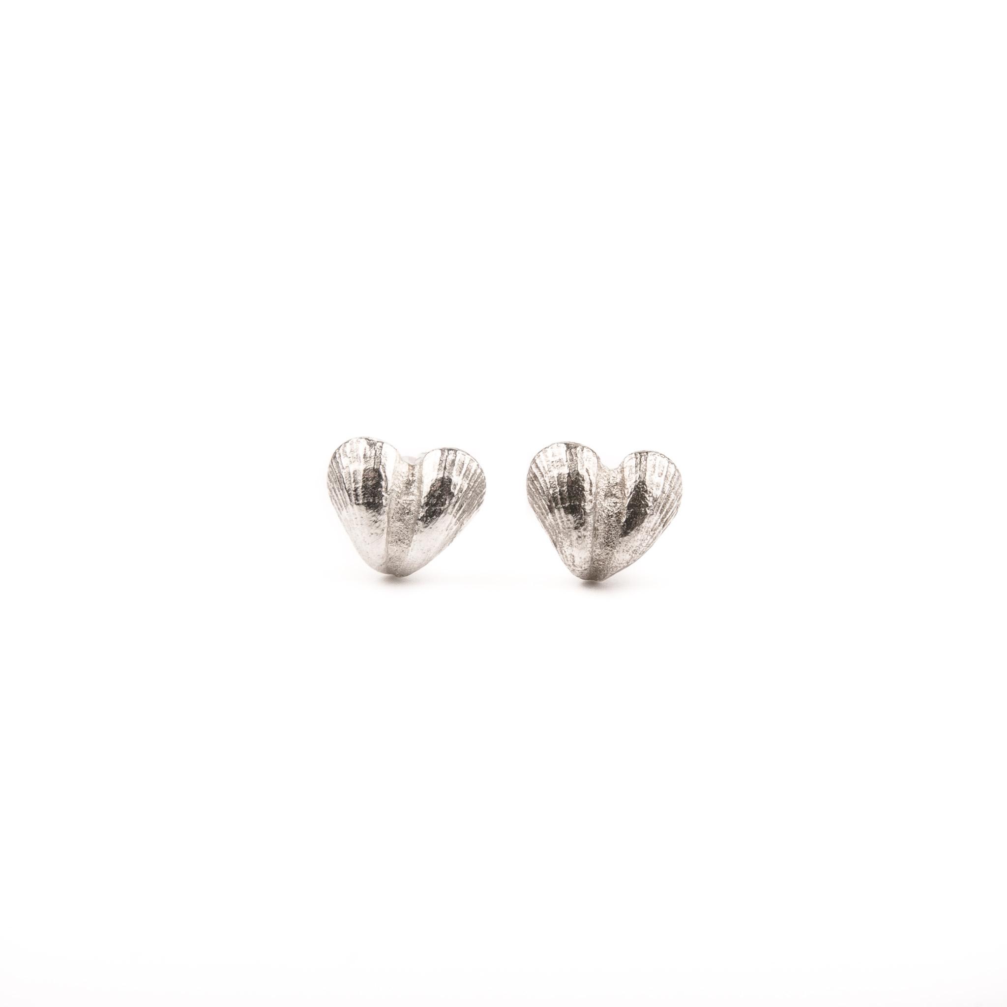 silverörhänge hjärtan