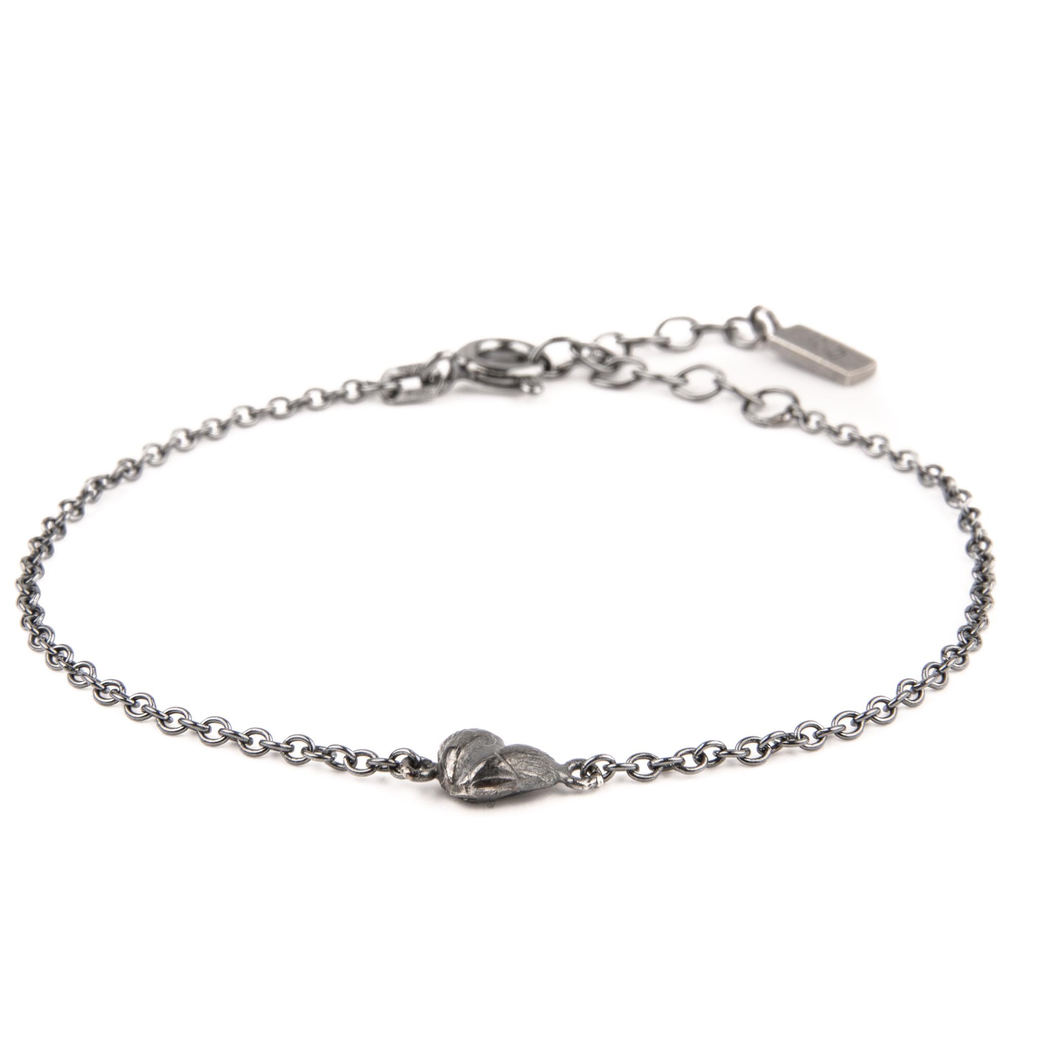 Heart of Gotland armband oxiderat silver