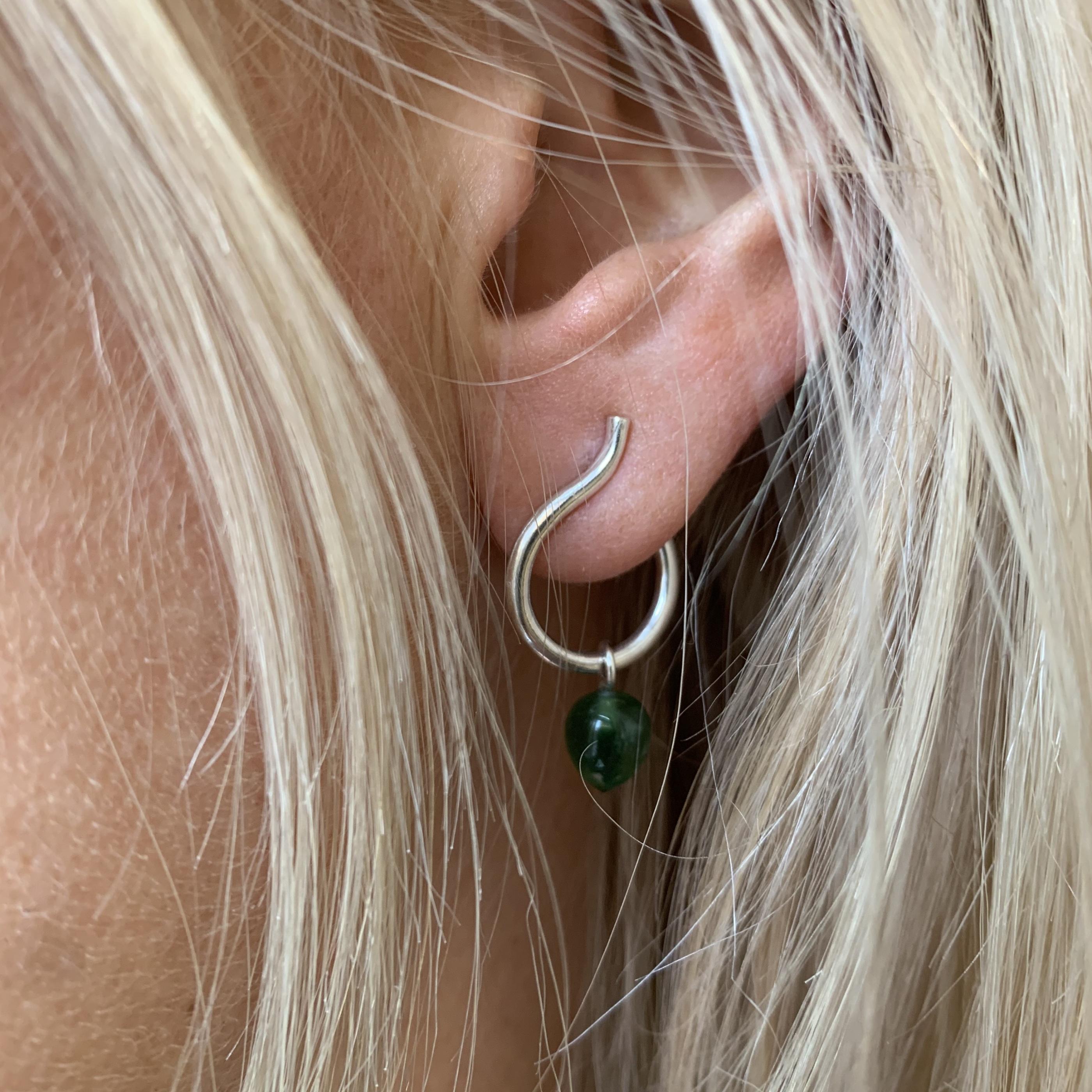 påhäng-grön Karneol