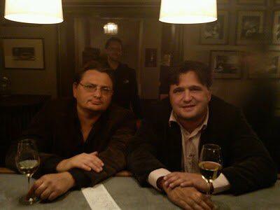 Brorsan och jag för åtta årsedan på Gyldene Freden.