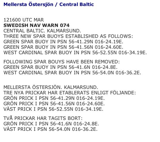 Skärmdump från Sjöfartsverkets hemsida. Se länk till höger..