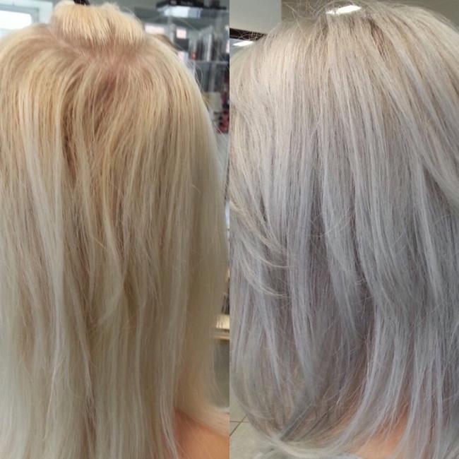 silverschampo för grått hår