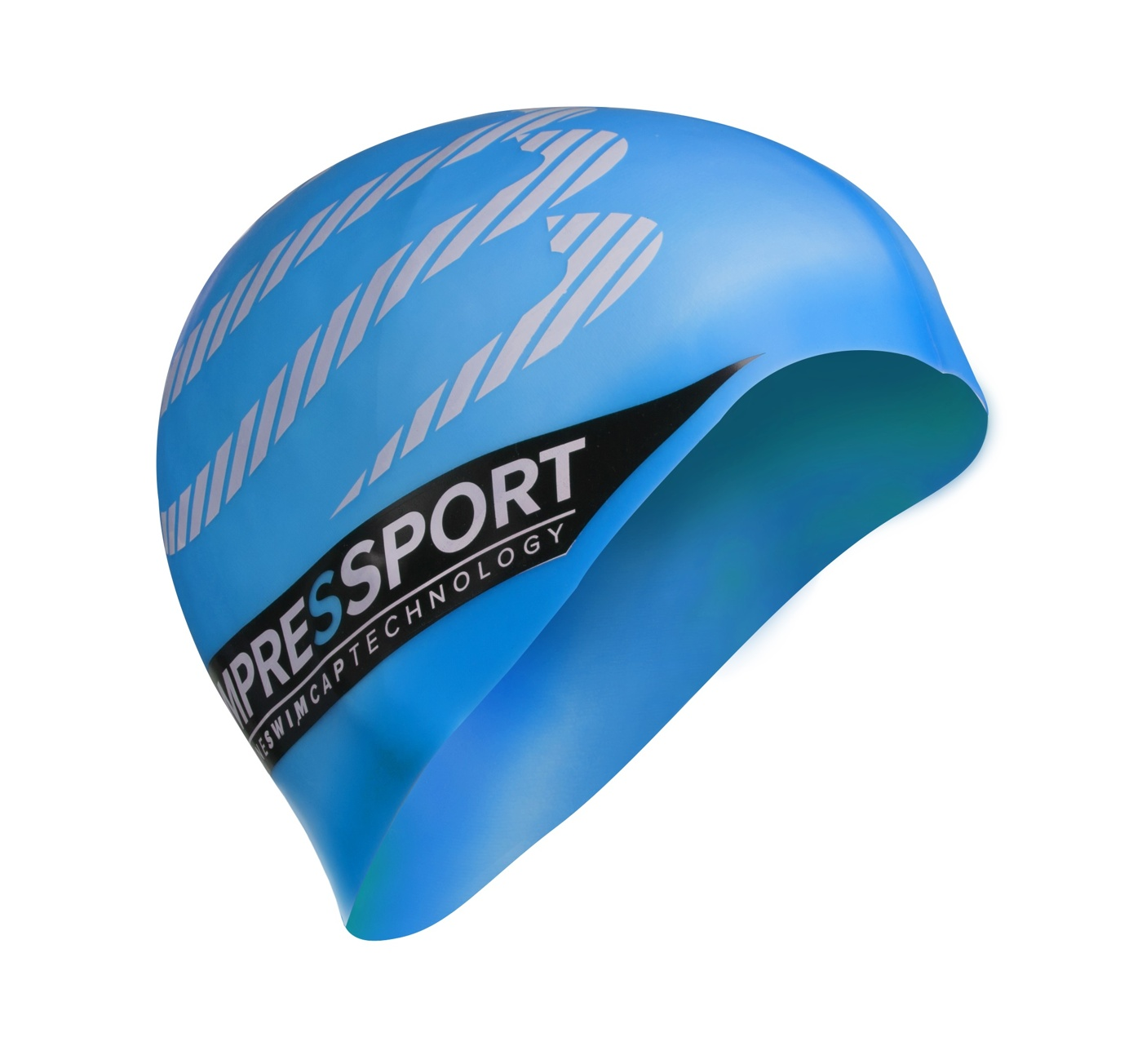 swim cap light blue