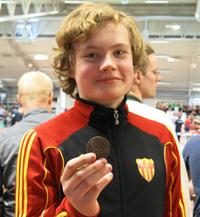 Jesper tog brons i vikten