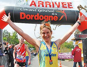 Överlycklig nybliven Europamästarinna    Foto: Peter Fredricsson