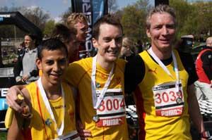 Alberto,Calle och Peter HAIS topptrio på 10 km