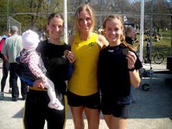 Susanna, Catharina och Petra medaljerade