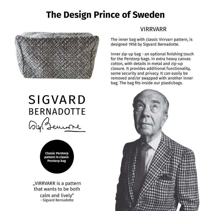 Bag with VirrVarr pattern by Sigvard Bernadotte - Swedish design prince