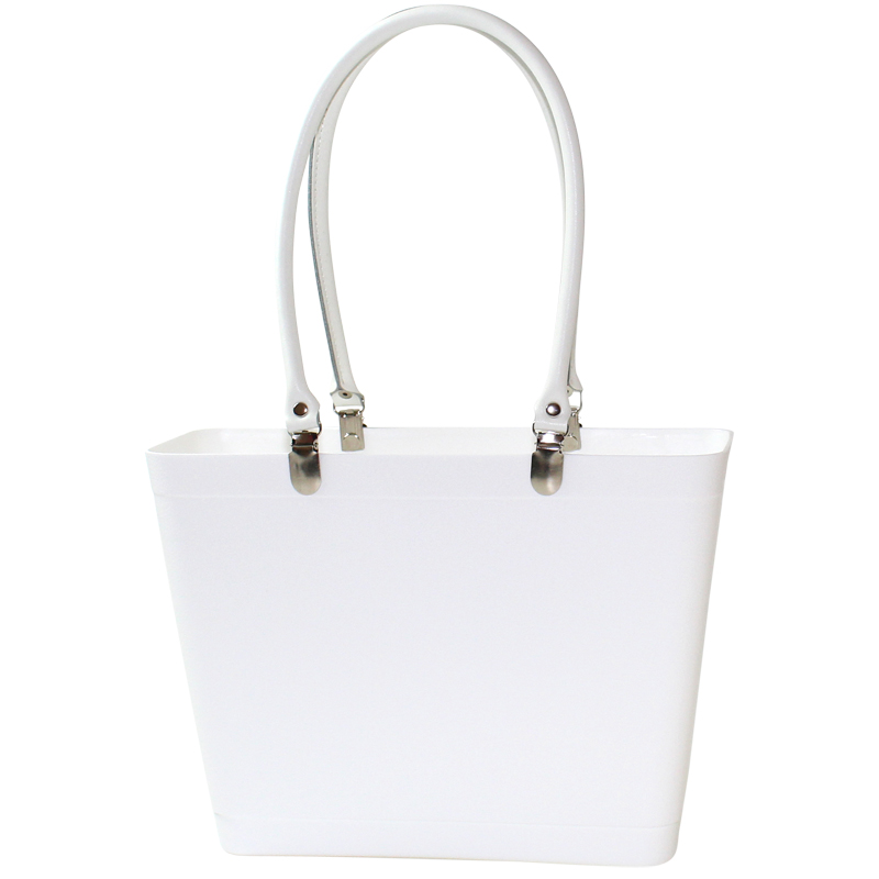 White with white handles