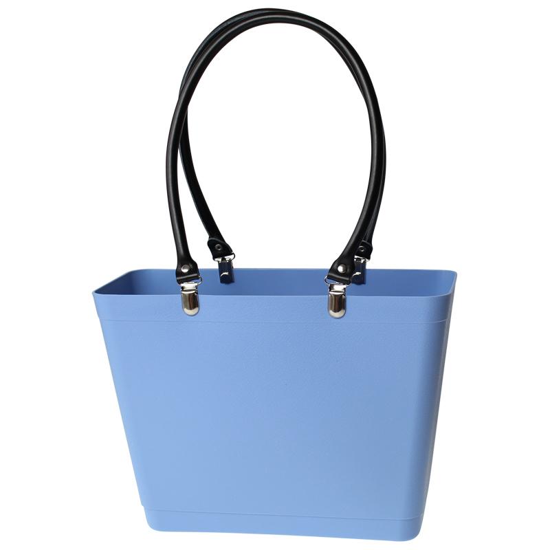 Sky blue with black handles