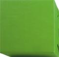 154233 Presentpapper Ribbat.Grönt papper med brun baksida.(57cm.38cm. 200m.)