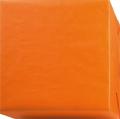 152216 Presentpapper 38,57cm.Ribbat. Orangefärgat papper med vit baksida