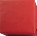 152234 Presentpapper Ribbat. Rött papper ribbat med vit baksida