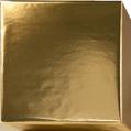 153250 Presentpapper 19,38,57cm. Metallic Guld högblank papper med vit baksida. 100m.