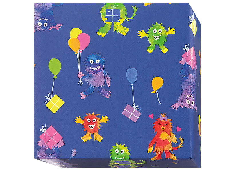 Omtyckta 15021800 Presentpapper Barn 40,55cm blå 100m/rle | Papco POL Emballage WK-13