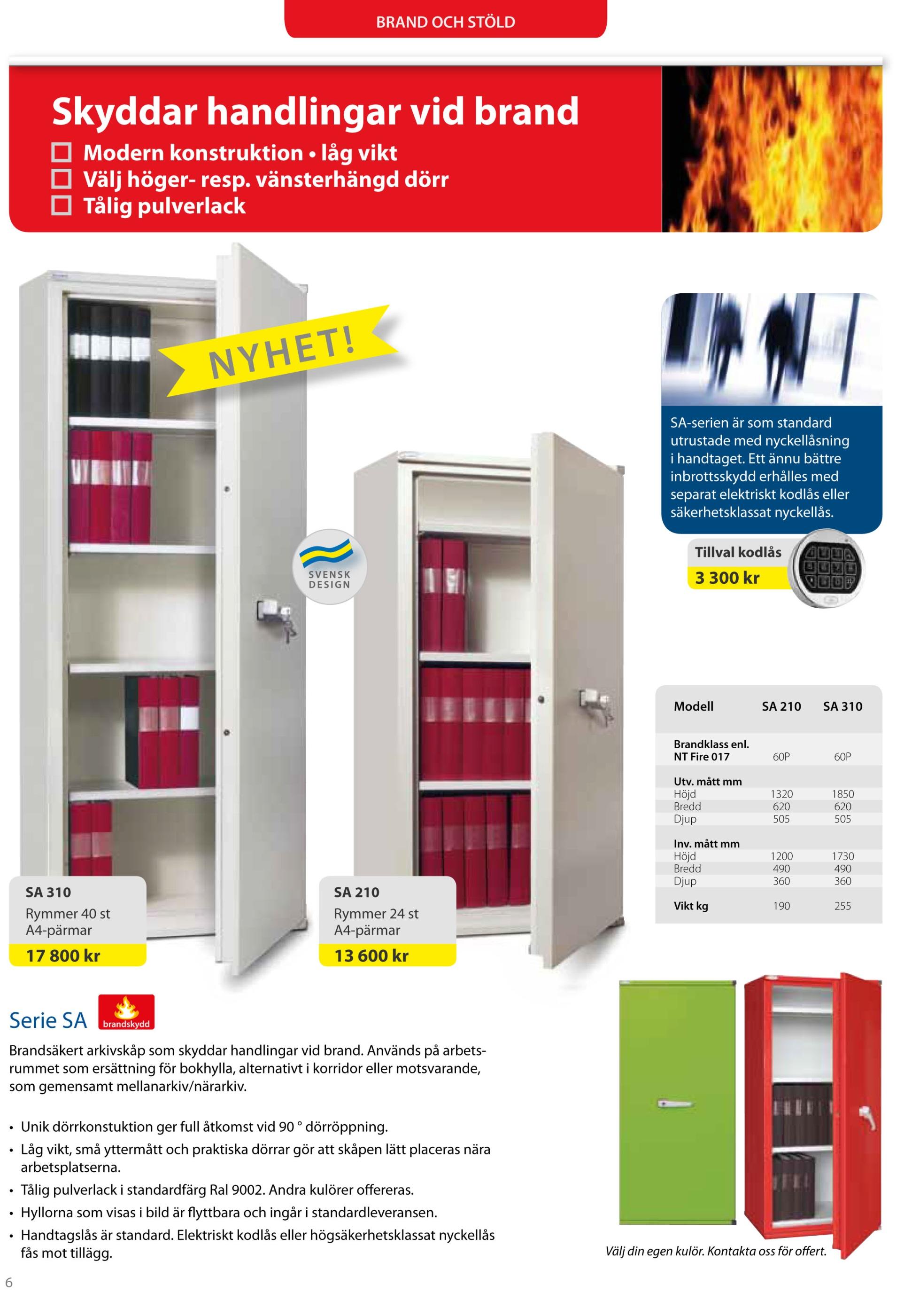 SA210 310 Säker förvaring