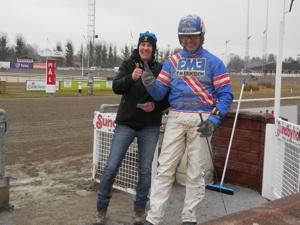 Malin o Pierre vid en seger på Sundbyholm förra året