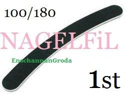 SVART NAGELFiL FiL till NAGEL / TiPPAR BANANFiL - 1st